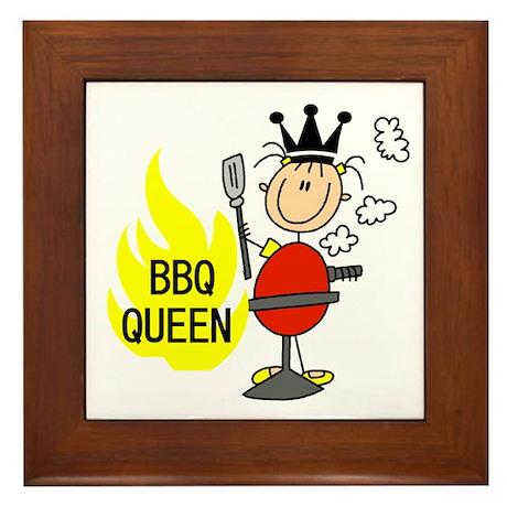 BBQ Queen Framed Tile