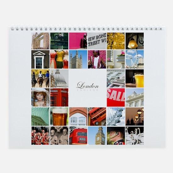 London Collage Wall Calendar