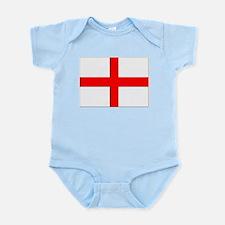 England St. George Cross Flag Infant Creeper