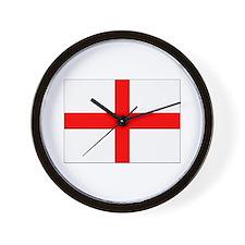 England St. George Cross Flag Wall Clock
