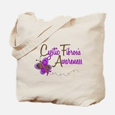CF Awareness 1 Butterfly 2 Tote Bag