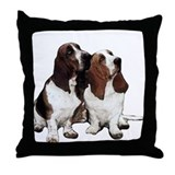 Basset hound Throw Pillows