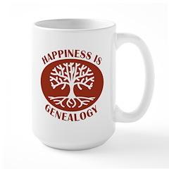 Happiness Is Large Mug