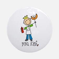 BBQ King Ornament (Round)