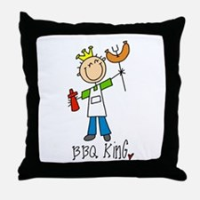 BBQ King Throw Pillow
