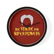 'Stache super powers. Wall Clock