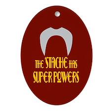 'Stache super powers. Oval Ornament