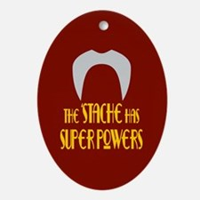 'Stache super powers. Oval Ornament