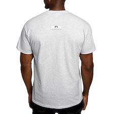 'Stache super powers. Ash Grey T-Shirt