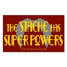 'Stache super powers. Rectangle Decal