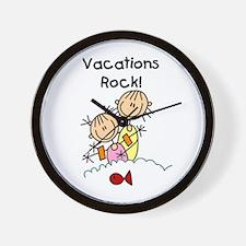 Vacations Rock Wall Clock