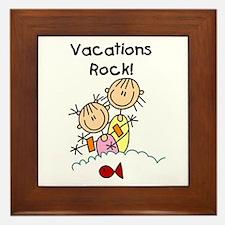 Vacations Rock Framed Tile