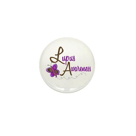 Lupus Awareness 1 Butterfly 2 Mini Button