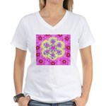 Women's V-Neck T-Shirt Flake Filligree