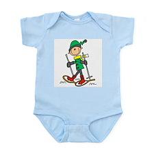 Winter Snowshoeing Infant Bodysuit