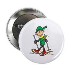 """Winter Snowshoeing 2.25"""" Button (100 pack)"""