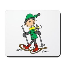 Winter Snowshoeing Mousepad