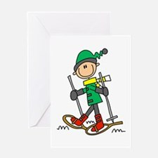 Winter Snowshoeing Greeting Card