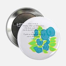 "Blue Romance Wedding Gifts 2.25"" Button (10 p"