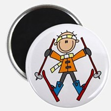 "Snow Skiing 2.25"" Magnet (10 pack)"