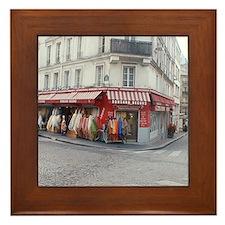 Unique Paris shopping Framed Tile