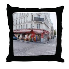 Funny Paris shopping Throw Pillow