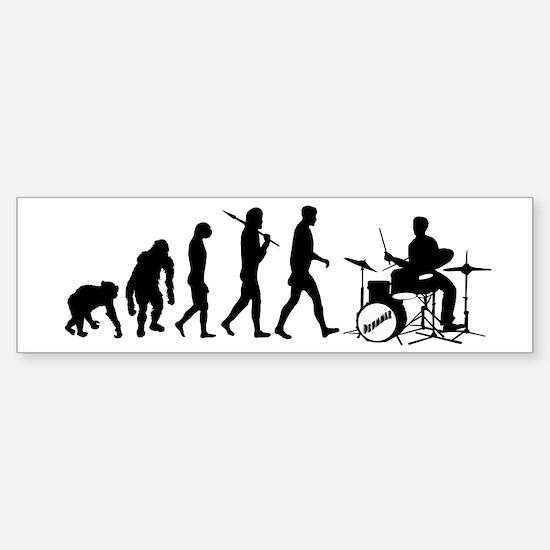 Drummers Drumming Sticker (Bumper)