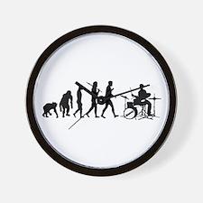 Drummers Drumming Wall Clock