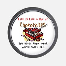 Life is a Box of Chocolates Wall Clock