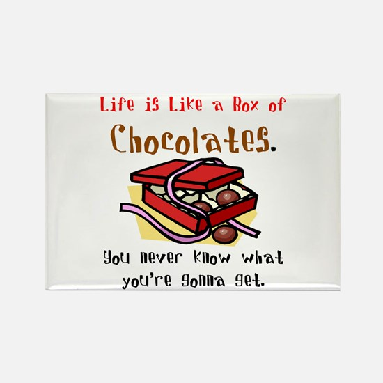 Life is a Box of Chocolates Rectangle Magnet