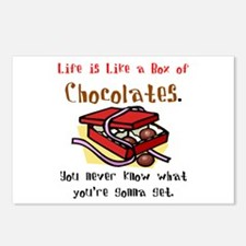 Life is a Box of Chocolates Postcards (Package of