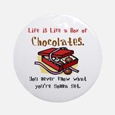 Life is a Box of Chocolates Ornament (Round)
