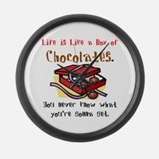 Life is a Box of Chocolates Large Wall Clock