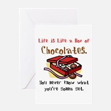 Life is a Box of Chocolates Greeting Card