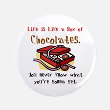 "Life is a Box of Chocolates 3.5"" Button"