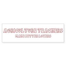 Agriculture Teachers make bet Bumper Bumper Sticker