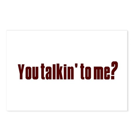 You talkin' to me? Postcards (Package of 8)