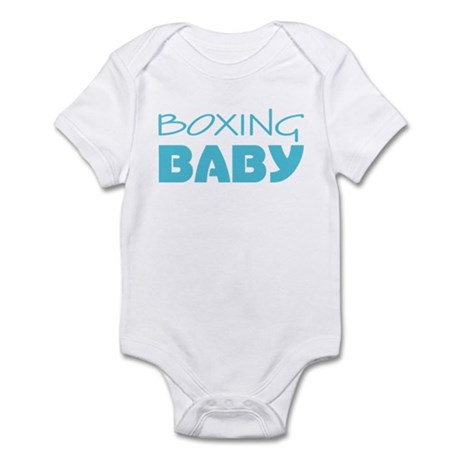 Boxing Baby Blue Infant Bodysuit