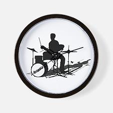 Drummer Drumming Wall Clock