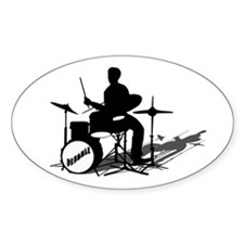 Drummer Drumming Decal