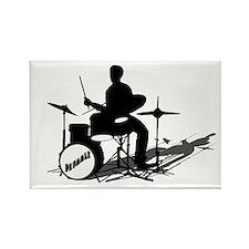 Drummer Drumming Rectangle Magnet