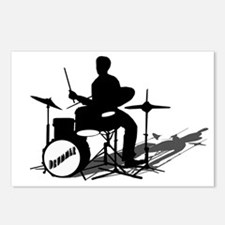 Drummer Drumming Postcards (Package of 8)