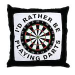 DARTBOARD/DARTS Throw Pillow