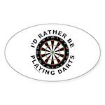 DARTBOARD/DARTS Oval Sticker (10 pk)