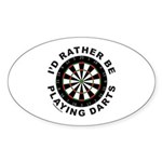DARTBOARD/DARTS Oval Sticker (50 pk)