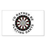 DARTBOARD/DARTS Rectangle Sticker 10 pk)