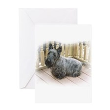 Scottish terriers Greeting Card