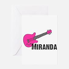 Guitar - Miranda - Pink Greeting Card