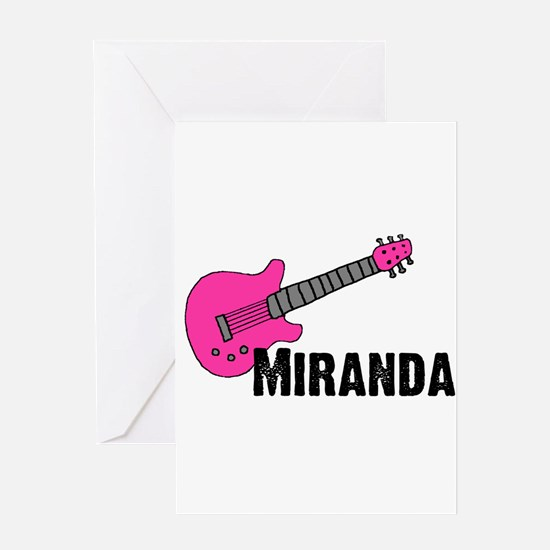 Guitar - Miranda - Pink Greeting Card
