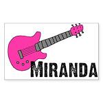 Guitar - Miranda - Pink Rectangle Sticker